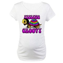 Women's Groovy Turtle Maternity T-Shirt