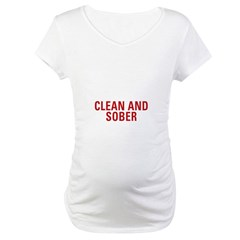 1 Year Clean & Sober Maternity T-Shirt
