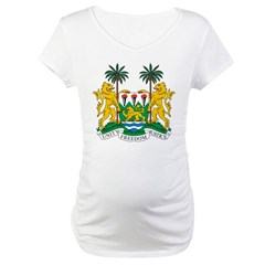 Sierra Leone Coat of Arms Maternity T-Shirt