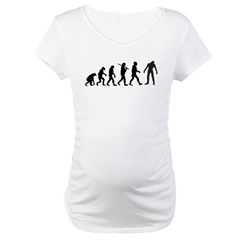Funny Zombie Evolution Maternity T-Shirt