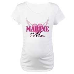Marine Mom Wings Maternity T-Shirt
