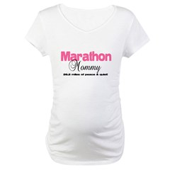 Marathon Mommy Peace Quie Maternity T-Shirt