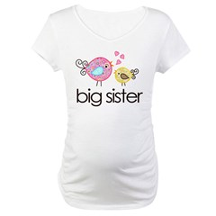 MASTER whimsy birds front no personalization Maternity T-Shirt