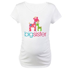 funky giraffe sister no name Maternity T-Shirt