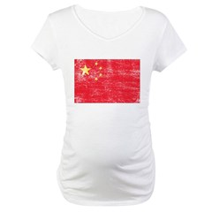 China Flag Maternity T-Shirt