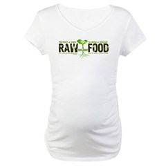 RawFood_DARK_Background Maternity T-Shirt