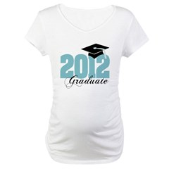 2012 graduate color aqua Maternity T-Shirt