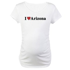 I Love Arizona Maternity T-Shirt
