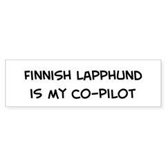 Co-pilot: Finnish Lapphund Sticker (Bumper 10 pk)