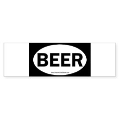 BEER Oval Sticker (Bumper 10 pk)