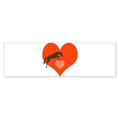 horse hearts Oval Sticker (Bumper 10 pk)