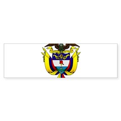 Colombian Coat of Arms Oval Sticker (Bumper 10 pk)