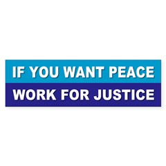 peace justice... Sticker (Bumper 10 pk)