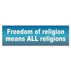 freedom religion... Sticker (Bumper 10 pk)