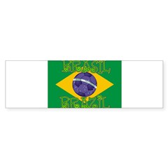 Brazil soccer Rectangle Sticker (Bumper 10 pk)