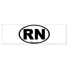 Registered Nurse Oval Sticker (Bumper 10 pk)