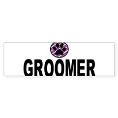 Groomer Purple Stripes Rectangle Sticker (Bumper 10 pk)