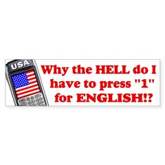 "Press ""1"" for English? Sticker (Bumper 10 pk)"