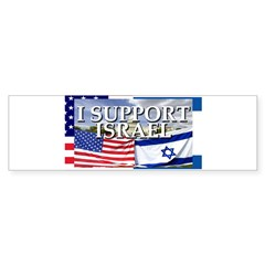 I Support Israel Rectangle Sticker (Bumper 10 pk)