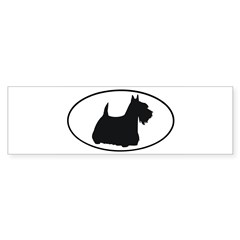 Scottish Terrier Oval Sticker (Bumper 10 pk)