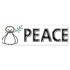 White Dove Peace Sticker (Bumper 10 pk)
