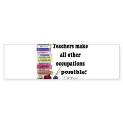 """Teacher Occupations"" Rectangle Sticker (Bumper 10 pk)"