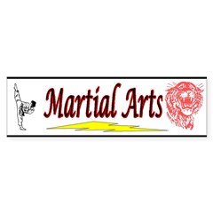 Tiger Martial Arts Sticker (Bumper 10 pk)