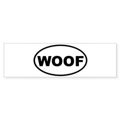 Woof Oval Sticker (Bumper 10 pk)