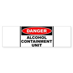 Alcohol Containment Rectangle Sticker (Bumper 10 pk)