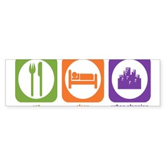 Eat Sleep Urban Rectangle Sticker (Bumper 10 pk)
