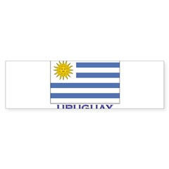 Uruguay Flag Gear Rectangle Sticker (Bumper 10 pk)