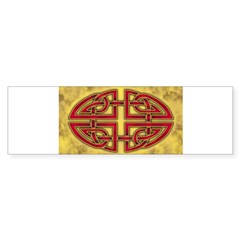 Celtic Knotwork (Red) Oval Sticker (Bumper 10 pk)