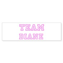Pink team Diane Sticker (Bumper 10 pk)