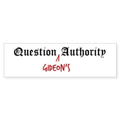 Question Gideon Authority Sticker (Bumper 10 pk)