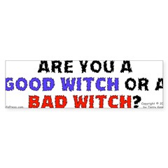 Good Witch or Bad Witch? Sticker (Bumper 10 pk)