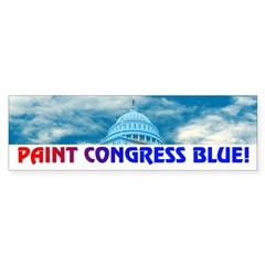 PAINT CONGRESS BLUE! Sticker (Bumper 10 pk)