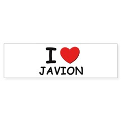 I love Javion Rectangle Sticker (Bumper 10 pk)