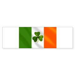 Irish Shamrock Flag Sticker (Bumper 10 pk)