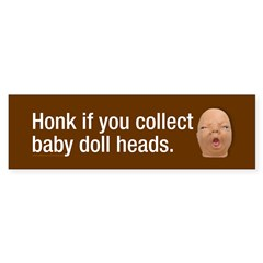 Collect baby doll heads Sticker (Bumper 10 pk)