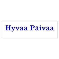 Hyvää Päivää Rectangle Sticker (Bumper 10 pk)