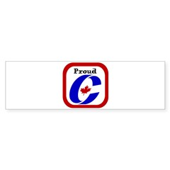 Proud Canadian Conservative Rectangle Sticker (Bumper 10 pk)
