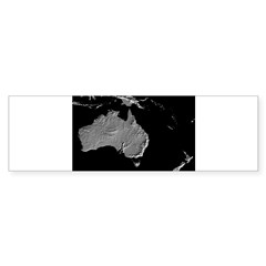 Australia Relief Map Rectangle Sticker (Bumper 10 pk)