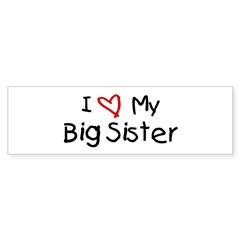 I Love My Big Sister Sticker (Bumper 10 pk)