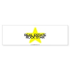Real Estate Rock Star Oval Sticker (Bumper 10 pk)