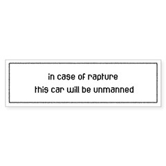 In Case of Rapture Sticker (Bumper 10 pk)