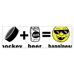 Funny Hockey Rectangle Sticker (Bumper 10 pk)