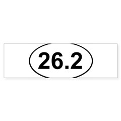 Marathon 26.2 White Oval Sticker (Bumper 10 pk)