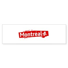 'Montreal' Rectangle Sticker (Bumper 10 pk)