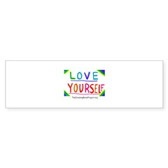 """Love Yourself"" Oval Sticker (Bumper 10 pk)"
