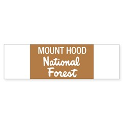 Mount Hood (Sign) National Fo Sticker (Rectangular Sticker (Bumper 10 pk)